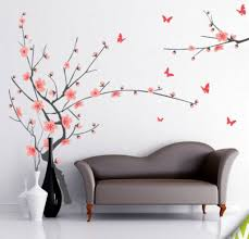 Buy Decals Design Branch With Flowers Wall Sticker PVC Vinyl - Wall design decals