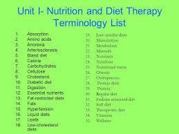 unit i nutrition and diet therapy ppt video online download