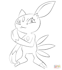 sneasel coloring page free printable coloring pages