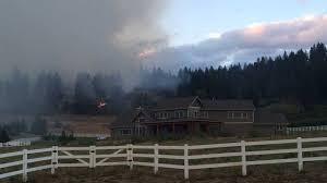Fire Evacuations Stevens County by Crews Battle Brush Fire Near Leavenworth King5 Com