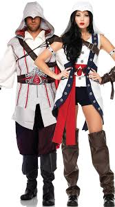 Chell Halloween Costume Deluxe Assassins Creed Couples Costume Deluxe Ezio Connor
