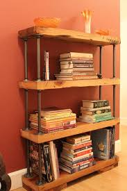 Reclaimed Wood And Metal Bookcase 123 Best Pipe And Metal Shelves Images On Pinterest Iron Metal