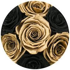 gold roses the million large box black 24k gold eternity roses