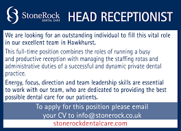 head receptionist vacancy dental receptionist cover letter no