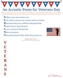 veterans day acrostic poem middle writing prompt