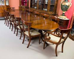 Antique Dining Room Table Styles Chair Gorgeous 16 Ft Regency Dining Table Triple Pedestal Mahogany