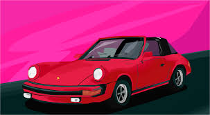 red porsche png polygon porsche 911 drawings sketchport