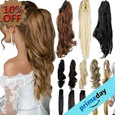 ponytail hair extensions 3 5 days delivery 18 21 curly synthetic clip in claw