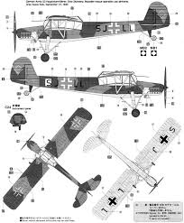 fi 156 storch color profile and paint guide fieseler storch