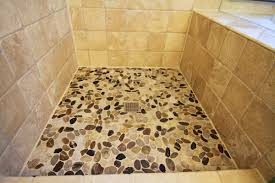 bathroom cozy pebble shower floor for unique your bathroom design