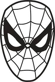 spiderman face template clip art library