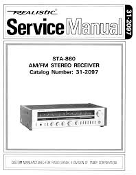 realistic sta 860 sm service manual download schematics eeprom