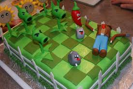 Plants Vs Zombies Cake Decorations Plants Vs Zombie Cake Walyou