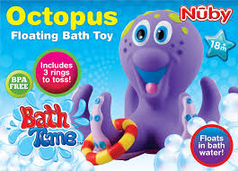 amazon com nuby octopus hoopla bathtime fun toys purple