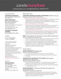 Resume Stanford Resume U2014 Zanele Munyikwa