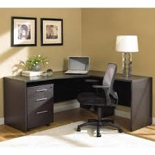 Black Desk With File Drawer Excellent Home Office Furniture With L Shaped Desk Combined Black