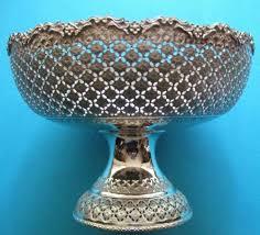 unique fruit bowl turkish solid silver fruit bowl stunning piece a very unique item