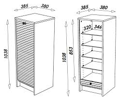 etagere classeur pour bureau classeur à rideau design blanc bambou meuble de rangement bureau