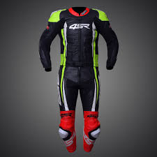 motorcycle leather suit neon suit motorbike 4sr rr edition neon evo leather suit