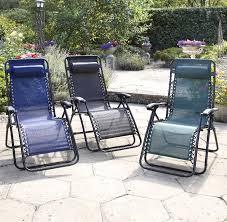 garden recliner chair in weatherproof textilene outdoor reclining