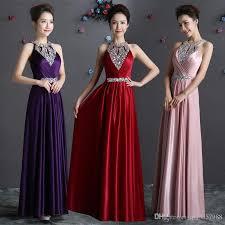 2016 long black winter evening dresses crystals beaded prom