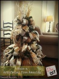 how to make a artificial tree look amazing of diy