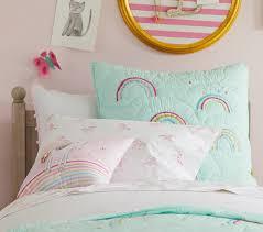 Unicorn Bed Set Organic Unicorn Rainbow Sheet Set Pottery Barn