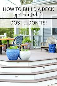 Building Patios by Best 25 Building A Deck Ideas On Pinterest Diy Deck Deck Steps