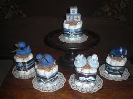 baby shower centerpieces boys blue and brown baby boy shower centerpieces cakes 20