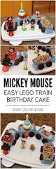 Easy Cake Decoration At Home Mickey Mouse Cake An Easy Birthday Idea