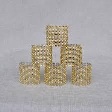 wedding favors wholesale wholesale 100pcs set plastic rhinestone wrap golden color napkin