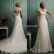 wedding dress a line lace biwmagazine com