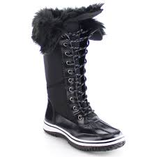 s boots with fur s garland black fur collar winter boots mount mercy