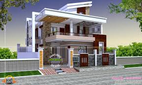 free double storey house plans flat roof google search houses
