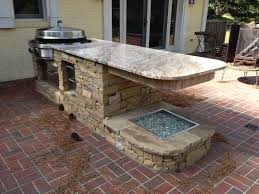Kitchen  Outside Kitchen Backsplash Tile How To Build An Outdoor - Simple outdoor kitchen