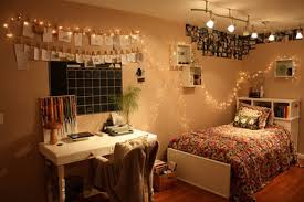 single bedroom teenage bedroom spaces with single bed and hanging twinkle
