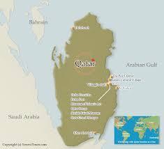 Doha Map Qatar Travel Guide