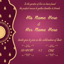marriage wedding cards demo marriage invitation cards rectangular shape purple