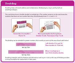 origo box of facts card sample for multiplication strategy