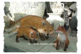 large resin fox prowling arts garden ornament woodside