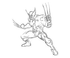 free printable wolverine coloring pages kids