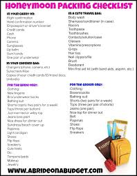 for honeymoon honeymoon packing checklist with a free printable packing