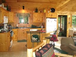 kitchen awesome rustic cabin kitchens enlightened by modern wall
