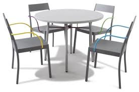 Cafe Style Table And Chairs Tables And Chairs Black Powder Coated Steel Frame Tables With