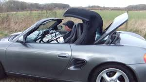 porsche boxster roof opening and closing youtube