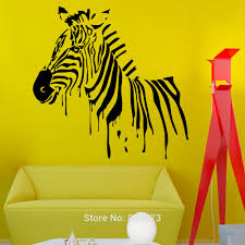 online get cheap removable wall murals nature aliexpress com zebra equine horse animals nature wall art sticker decal home diy decoration decor wall mural removable