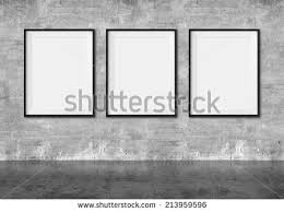 blank gallery wall art gallery blank picture frames on stock illustration 213959596