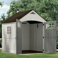 amazon com suncast bms7790 cascade 7x7 u0027 storage shed suncast