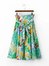 hawaiian pattern skirt 2017 latest hawaiian tropical floral print midi skirt with ruched