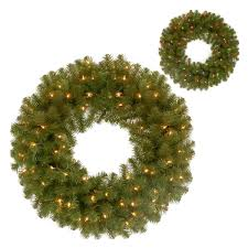 national tree 24 inch valley spruce wreath with